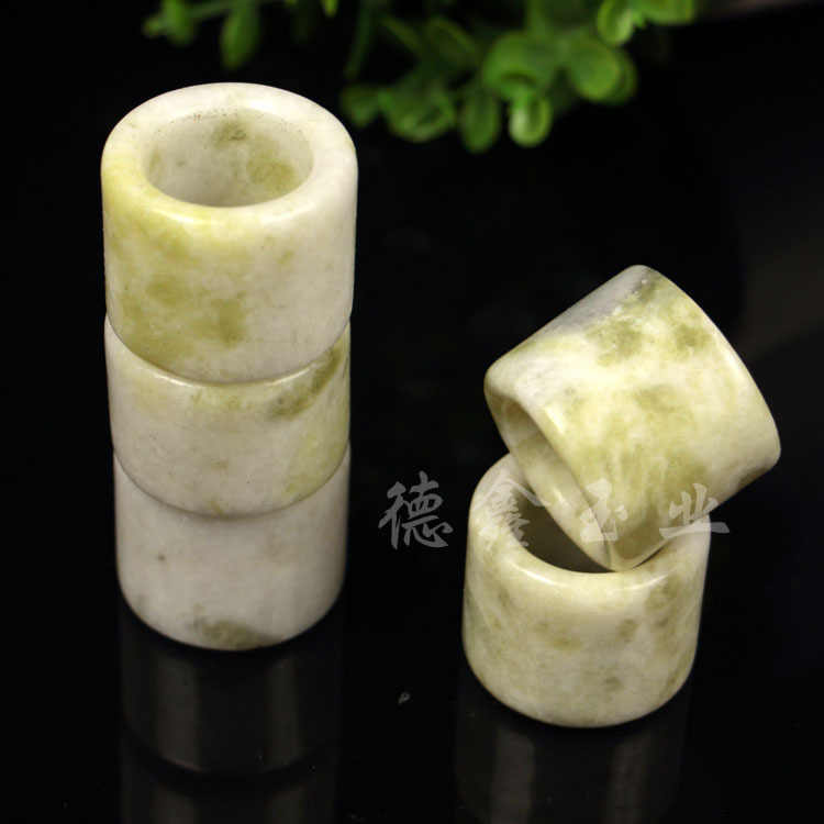 自然の緑のヒスイリング硬玉仏教お守りファッション中国チャームジュエリー手工芸幸運ギフト女性男性A85