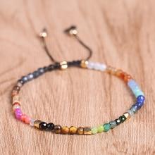 все цены на Handmade Natural Crystal Yoga Seven Chakras Healing Balance Tibetan Silver Bracelet Reiki Prayer Bracelets 7 Colors Stone 1431