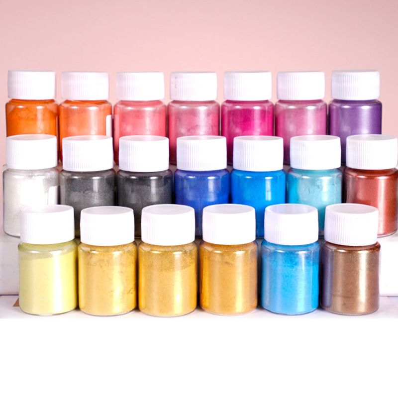 4 Pcs/set Mixed Color Resin Jewelry DIY Making Craft Glowing Powder Luminous Pigment Set Crystal Epoxy Material