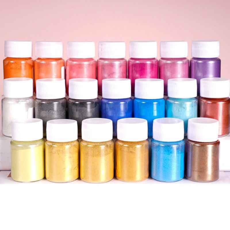 4 unids/set de joyería de resina de Color mezclado, DIY, fabricación de polvo brillante, conjunto de pigmentos luminosos, Material epoxi de cristal