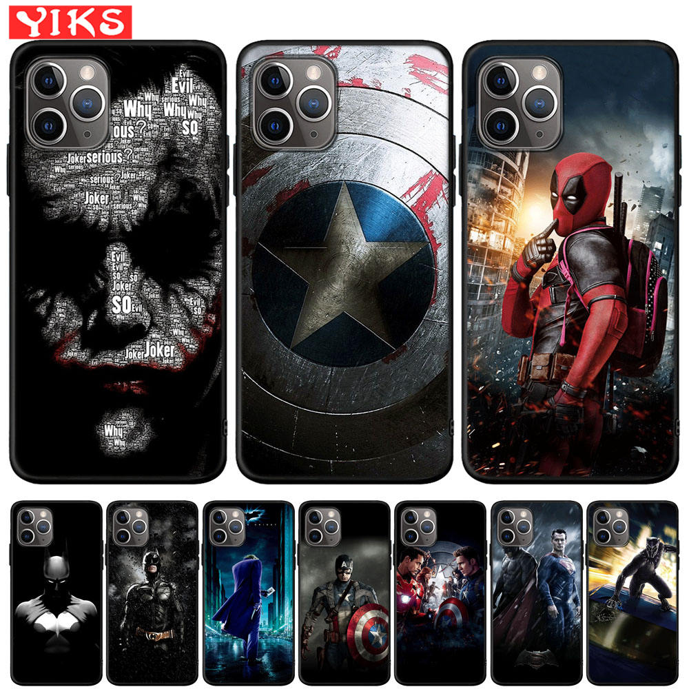 Marvel Deadpool The Joker Phone Case For IPhone X XR XS 11 Pro Max 8 7 6 6S Plus Cover For IPhone 5 5S SE Fundas Coque Etui