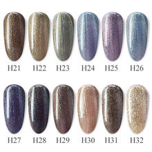 12 Pcs/Kit Laser Galaxy Gel Vernis Gdcoco Glitter Shining Nail Gel Polish Schilderen Gel Luxe Starry Kleur Nail gel Lak(China)