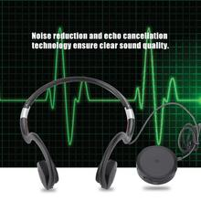 Aparelho auditivo 5v500mah carregamento de condução óssea fones de ouvido amplificadores de som aparelho auditivo BN 802 cabo usb preto quente