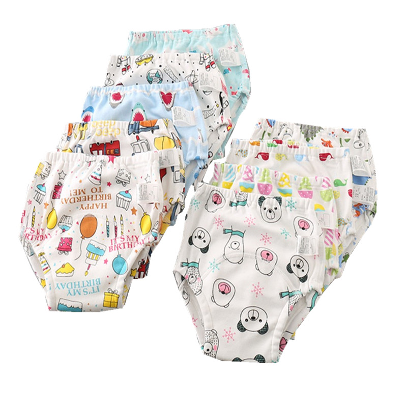 Cotton Reusable Baby Training Pants Infant Shorts Underwear Cloth Diaper Nappies Baby Waterproof Training Pantie 6Layers Crotch
