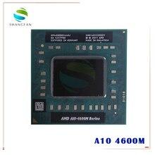 AMD מחשב נייד נייד A10 4600M A10 4600m AM4600DEC44HJ מקורי שקע FS1 (FS1R2) מעבד 4M Cache/2.3GHz/Quad Core מעבד