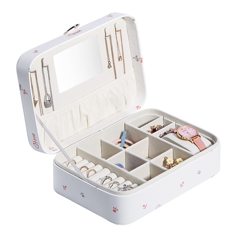 New Cartoon Printed Jewlery Box Cute Mass Jewlery Box Storage Boxes Jewelry Fashion Design Box image