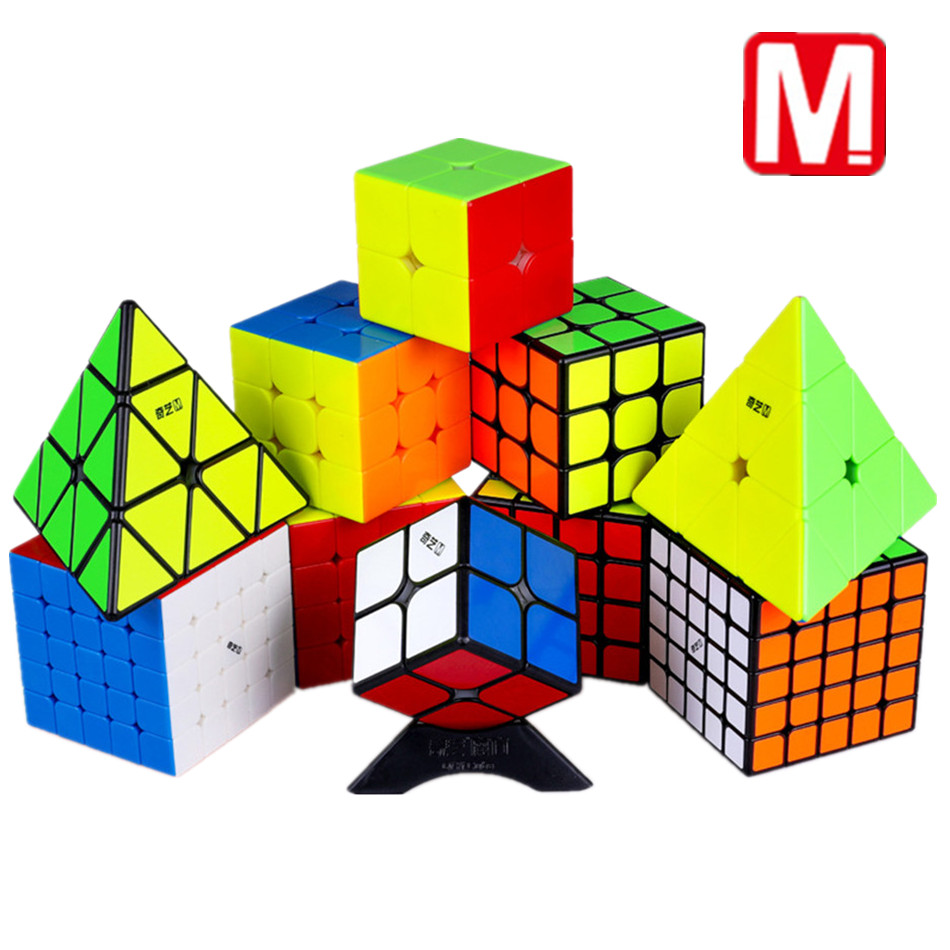 Qiyi M Magnetic 2×2 3×3 4×4 5×5 Pyramid Magic Cube Magnetic Speed Cube Puzzle Education Cube Toy For Children