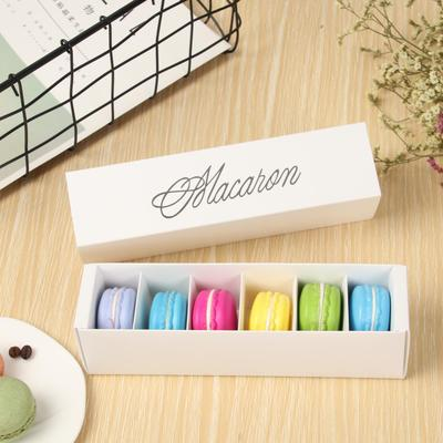 6 macarons Rectangle Chocolate <font><b>Big</b></font> Capacity Small Pastry Macaron <font><b>Packaging</b></font> <font><b>Box</b></font> Baking Decoration <font><b>Gift</b></font> <font><b>Box</b></font> Party Supplies image
