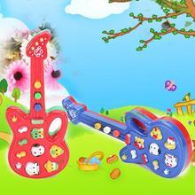 Прекрасный мультфильм животных пластиковая электронная гитара для детей чехол для телефона Muse игрушка подарок