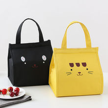 Cartoon Cute Portable Insulated Canvas lunch Bag Thermal Food Picnic Lunch Bags for Women kids Men Cooler Lunch Box Bag Tote(China)