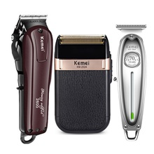 Kemei Professional Electric Hair Clipper Rechargeable Cordle