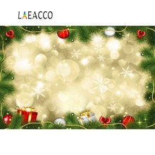 цены Laeacco Photo Backdrops Dreamy Christmas Polka Dots Pine Gift Child Pet Doll Portrait Photo Backgrounds Photocall Photo Studio