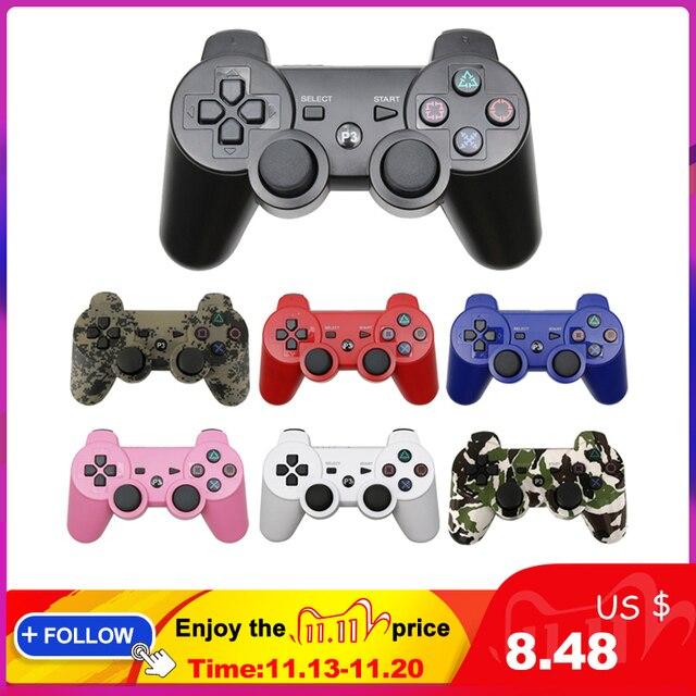 Dla SONY PS3 kontroler bezprzewodowy Gamepad Bluetooth dla Play Station 3 konsola joysticka dla Dualshock 3 Controle na PC