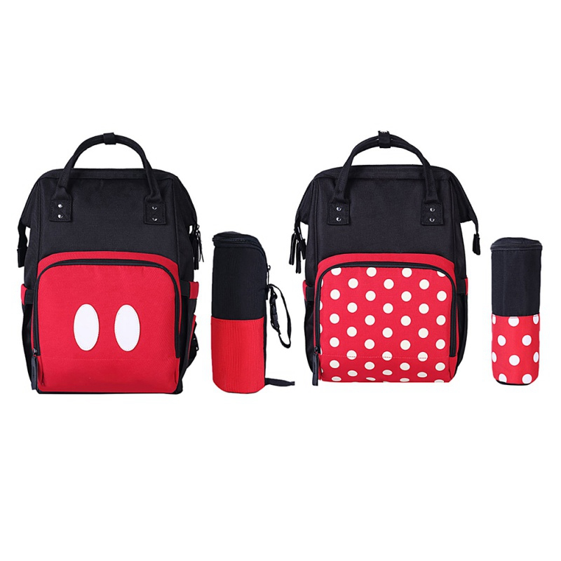 Fashion Bag Multi-Function Fashion Casual Waterproof Polka Dot Printing Mother Backpack Diaper Nappy Bag