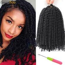 Sping plecione warkoczyki afro włosy Bob wiosna Twist włosy Prelooped szydełkowe włosy 8 Cal krótkie pasja Twist włosy 110 g/paczka 5 kolorów