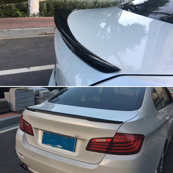 Use for BMW 5 Series F10 spoiler 2010--2017 year real glossy carbon fiber rear wing P style Sport Accessories body kit
