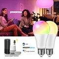 Светодиодная лампа E27, RGBW, изменение цвета, RGB + W + WW светильник лампочка с приложением Homekit, Google Home, Alexa Siri, голосовое управление