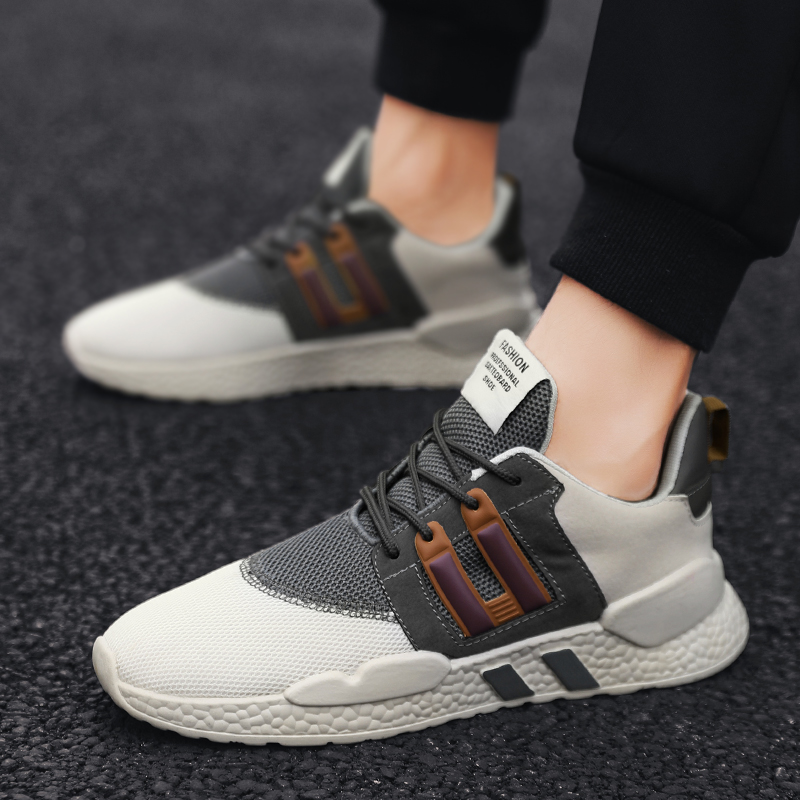 Damyuan 2019 Men's Running Shoes Men Breathable Casual Shoes Lace Up Mens Mesh Sport Outdoor Sneakers Comfortable Breathable