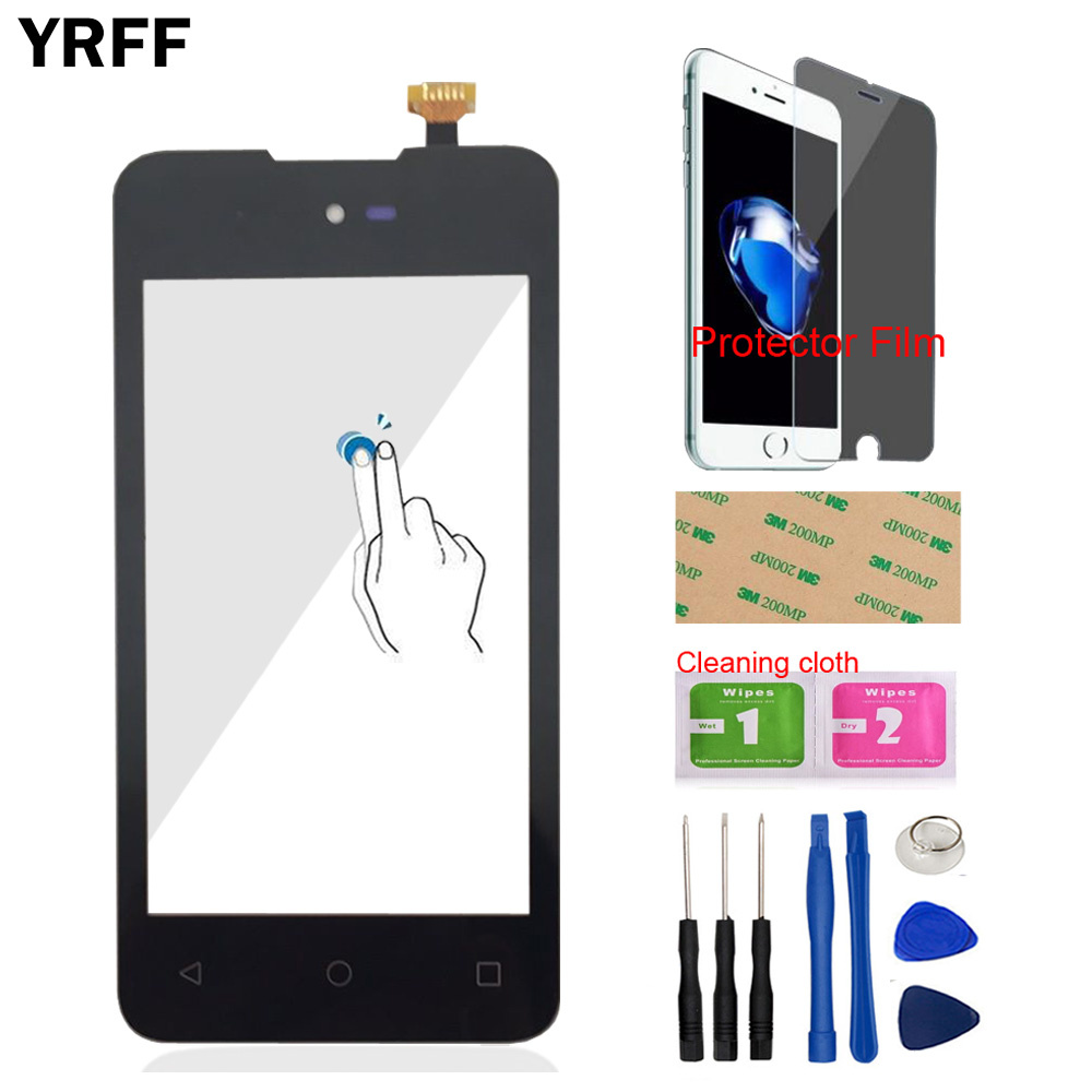 Touch Screen For Micromax Bolt D303 Touch Screen Digitizer Panel Front Glass Sensor For Micromax D303 4.0'' Tools Protector Film