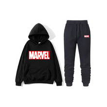 2019 autumn and winter brand sweatshirt men's high quality MARVEL letter printing fashion hoodie sweatpants men