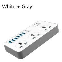 Стандарт США/ЕС/Великобритания розетка 3 розетки 6 USB зарядное устройство Быстрая Зарядка адаптер с переключателем
