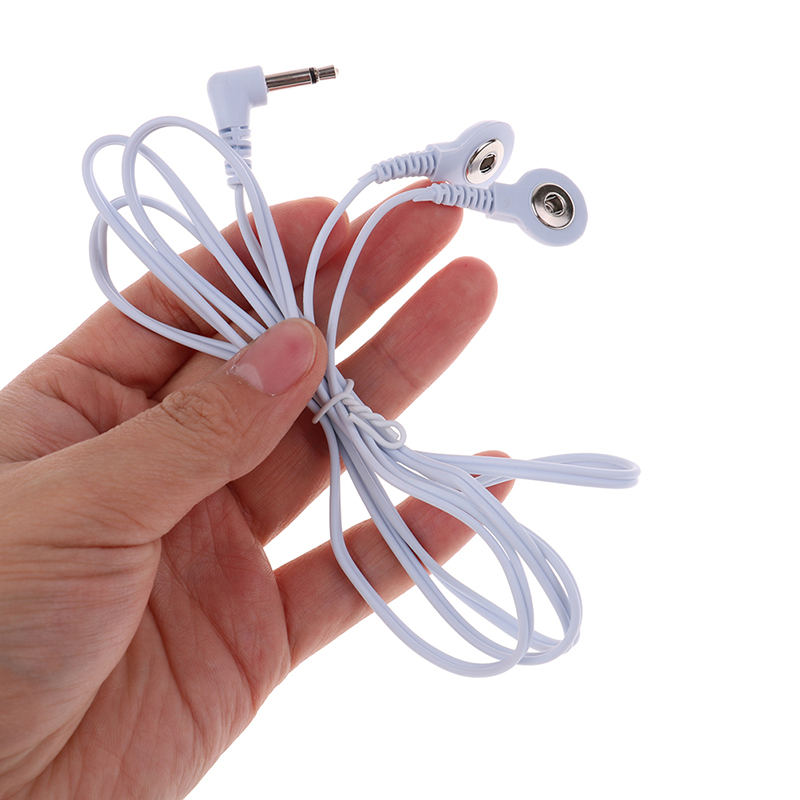 Electrode Lead Wires Jack Dc Head 3.5Mm Snap Replacement Tens Unit Cables 2-way Massager accessories