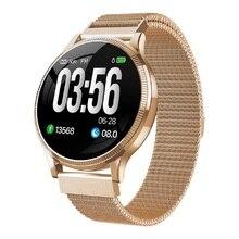 Calças de Saúde esportes Relógio Inteligente 1.22 polegada Cinta Magnética IP67 Waterproof Heart Rate Monitor de Fitness Rastreador Smartwatch para Android IOS
