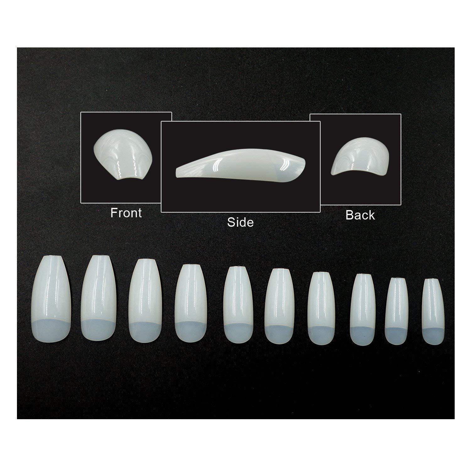 Manicure Phototherapy Ballet Nail Tip Finished Product Fake Nails Nail Sticker Oily Glue Flat Head Ban Tie Nail Tip Coffin Nail