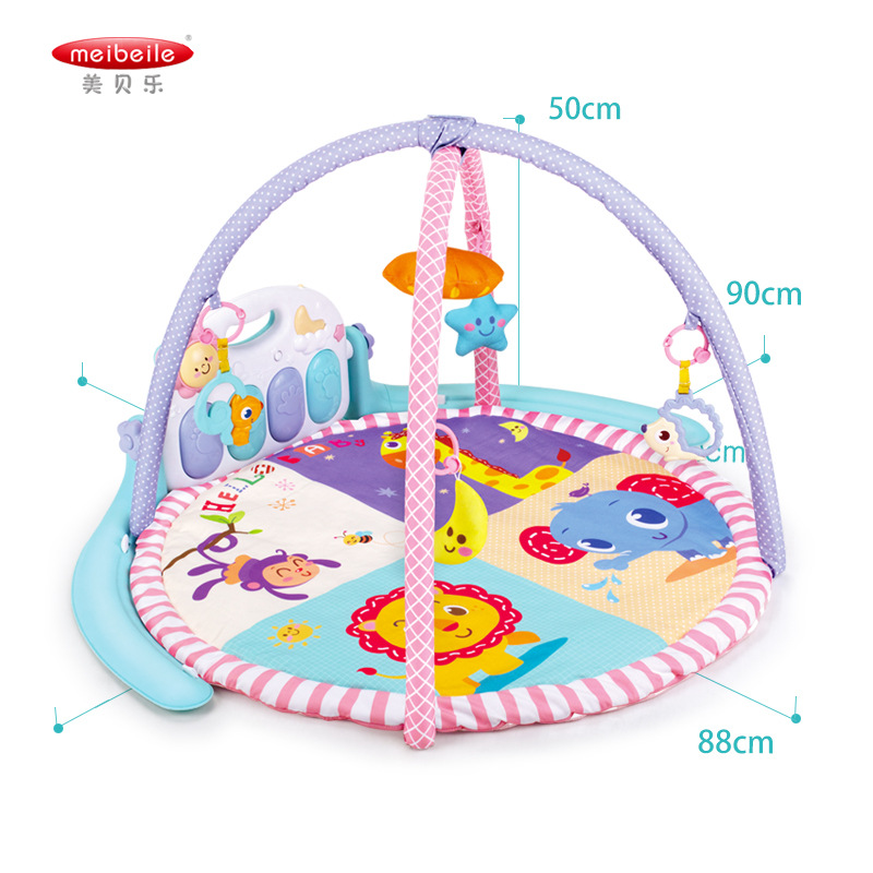 Meibeile Infant Fitness Frame Maker 0-1-Year-Old Baby Pedal Piano Newborns Music Toy 3-6-12 Month 9