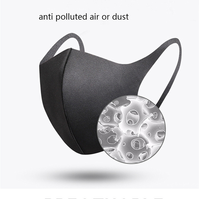 PM2.5 Anti Dust Black Mask Bacteria Proof Flu Mouth Mask Activated Carbon Windproof Muffle Washable Reusable Face Masks 1