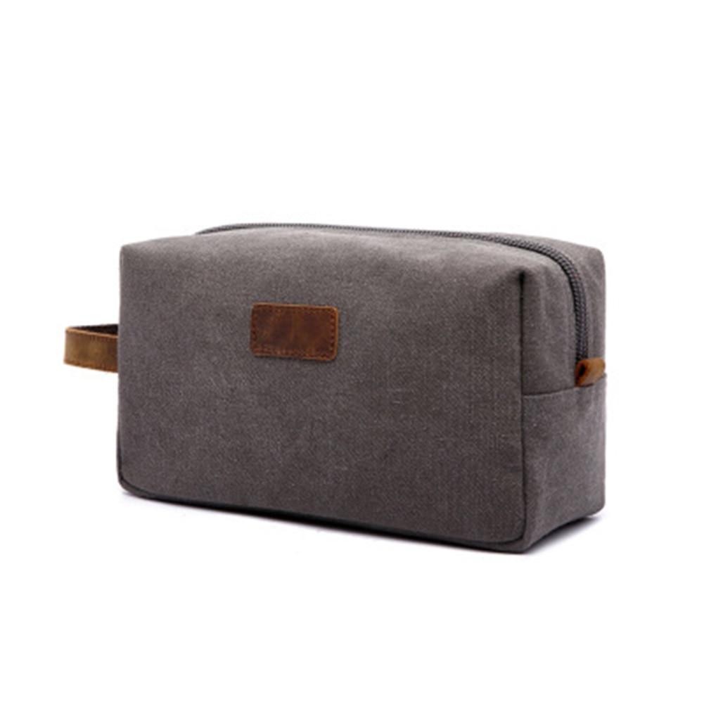 Men's Makeup Bag 2020 New Men Travel Toiletry Bag Canvas Leather Makeup Organizer Shaving Storage Pouch Cosmetic Bag Neceser