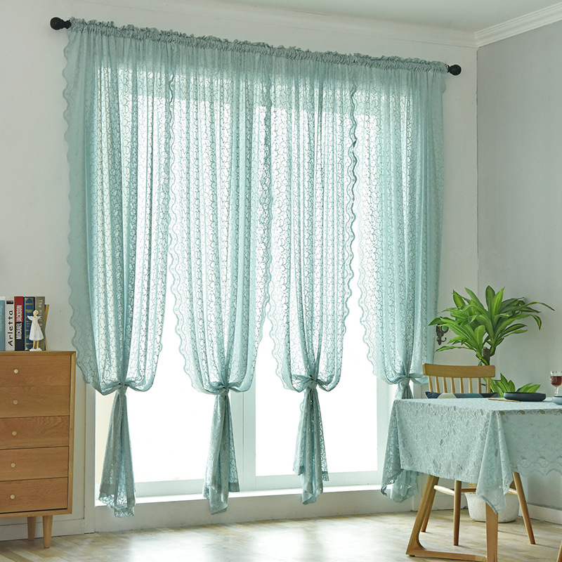 check MRP of sheer curtains blue