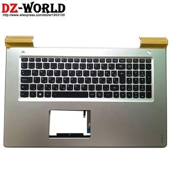 New/orig Silver Palmrest Upper Case With Backlit Hungary Keyboard for Lenovo Ideapad 700-15ISK Laptop C Cover 5CB0L02373