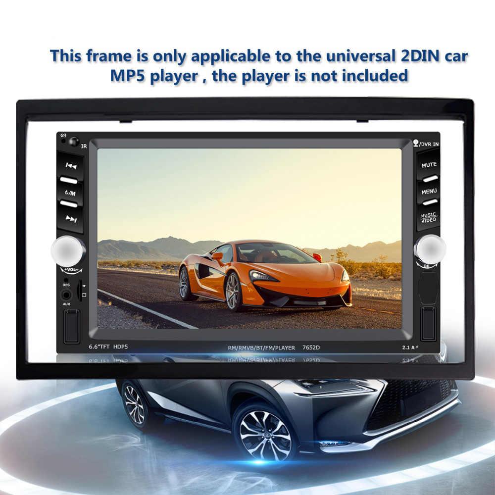 2 DIN Mobil Radio Bingkai untuk Stereo Mobil Double Din Auto Aksesoris untuk 7 ''Inch Mobil Multimedia 2din MP5 pemasangan Aksesori