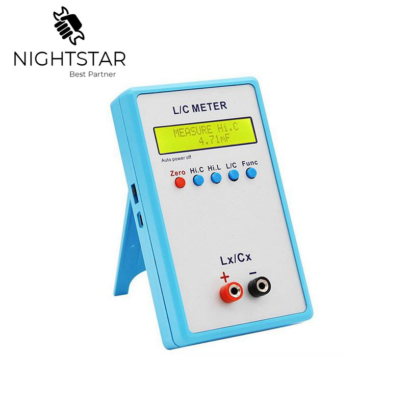 LC200A Inductance Inductor Capacitance Capacitor L/C Multimeter Meter Tester Capacitance Digital LCR Meter