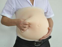 2-10 mesi Tutte Le Dimensioni Morbido Pancia Finta Mese Bambino In Stato di Gravidanza Bump Silicone Protesi Pancia Artificiale Per Le Donne E gli attori