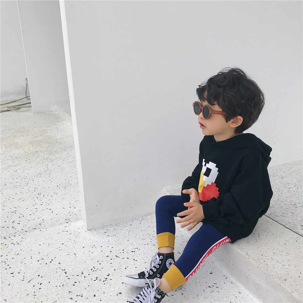 Tonytaobaby jesienne ubrania nowe ubrania dla dzieci w języku angielskim spodnie z nadrukiem spodnie dla dzieci maluch dziewczyna spodnie chłopiec spodnie