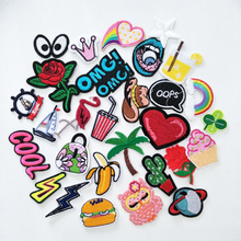 16pcs Random Mixed Letter Bird Letter Sew on Iron on Embroidered Patches for Clothes Cheap Stickers Clothes Fabric Badge P008