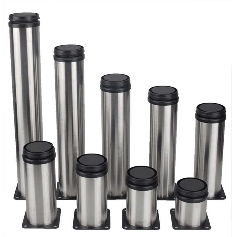 4pcs/set Stainless Steel Furniture Feet Cupboard Table Bed Legs 50x120/150/180mm Replacement Sofa Foot YLM1081
