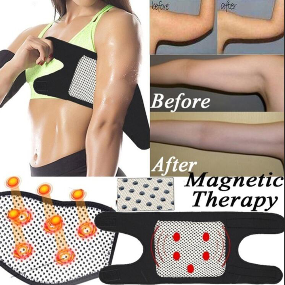 1 Pair Magnetic Therapy Tourmaline Self-heating Health Care Arm Bandage Elbow Support Belt Health Care Elbow Massager Band