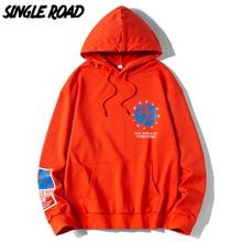 SingleRoad homme sweat à capuche pour homme 2020 surdimensionné printemps sweats Hip Hop japonais Streetwear Orange à capuche hommes sweat homme