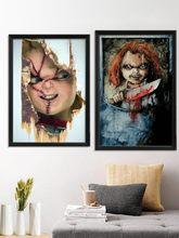 Affiche murale en soie pour décor de maison, Jeu d'horreur, graine de Jeu pour enfants