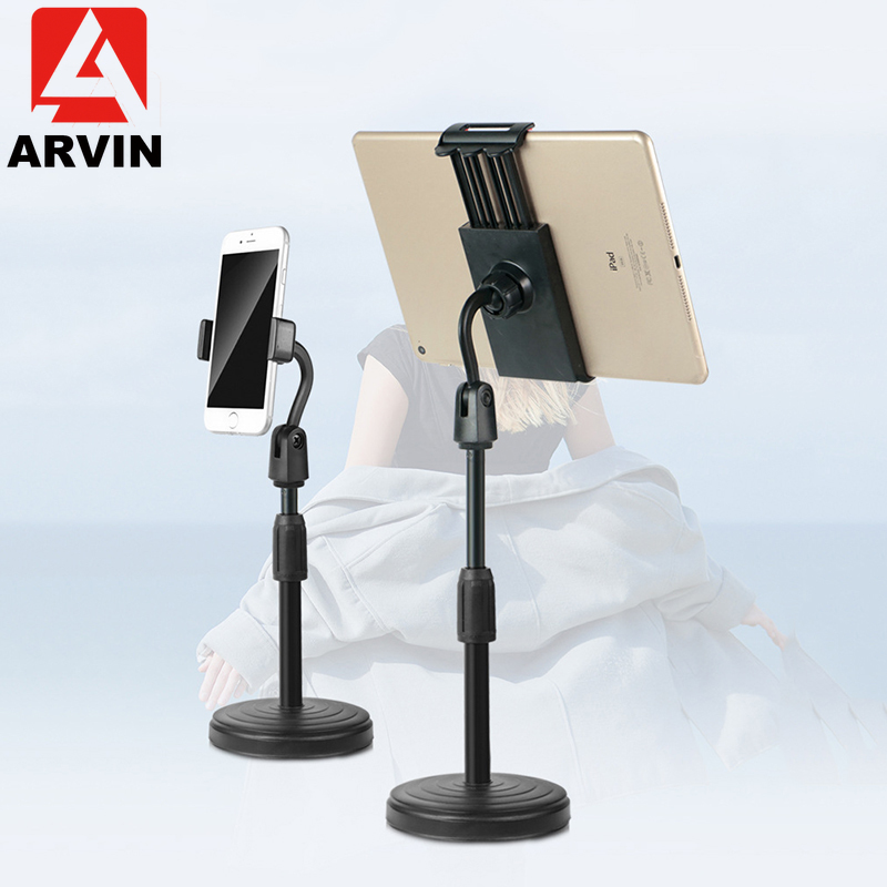 ARVIN Tablet Phone Holder for iPad Air 1 2 Pro 3.5-10 inch Desktop Lazy Bracket Mount Stand for iPhone Samsung Support Tablet PC