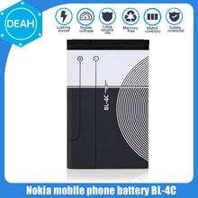 1PCS BL-4C BL 4C BL4C 3.7V 890mAh Substituição Bateria Do Telefone Para Nokia 6100 6125 6136 6170 6300 7705 7200 7270 8208 Células Li-ion