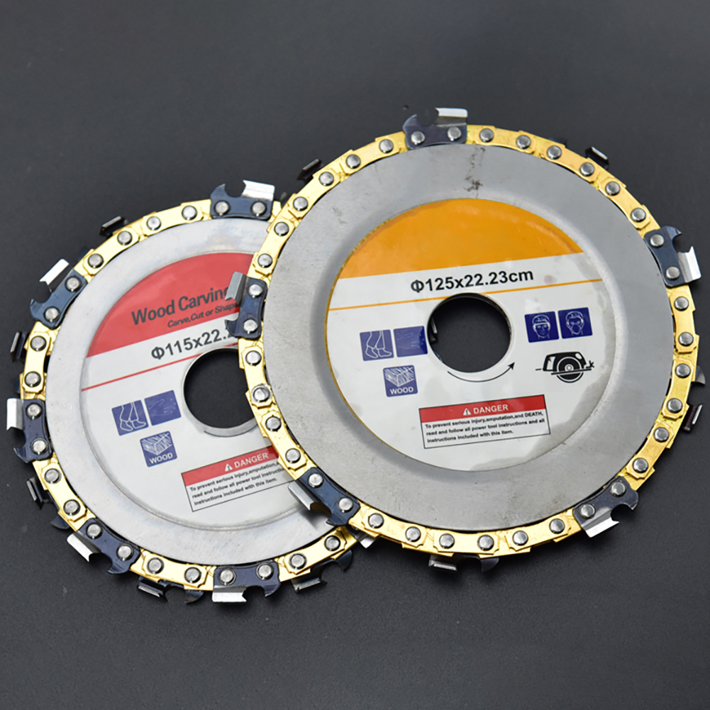 115/125mm Carbide Grinder Disc Angle Grinder Chain Saw Disc Blade Wood Carving Disc For Angle Grinder Curved Work Cutting Tools