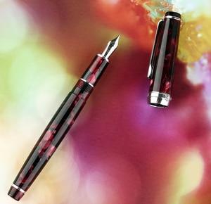 Image 4 - مون مان ديليك قلم حبر نيومون سلسلة الاكريليك الراتنج إيريديوم EF/F/صغيرة عازمة الكتابة قلم هدية مجموعة لمكتب الأعمال