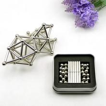 36 stücke Magnetische stange & 27 stücke Metall Bälle DIY Magnetische spielzeug Magnetische Blöcke Modell & Gebäude Pädagogisches Spielzeug für kinder Kinder Geschenk