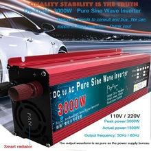 Onduleur solaire à onde sinusoïdale Pure, transformateur de tension, convertisseur de puissance, DC 12v/24v à AC 110V/220V, 1000W, 1600W, 2000W, 3000W