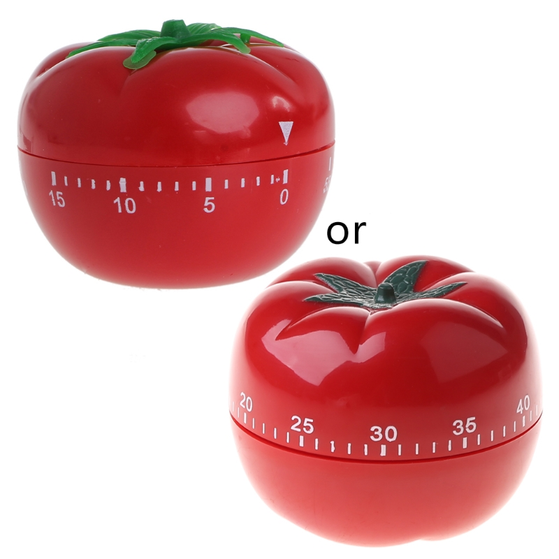 Usable Tomato Shape Cooking Mechanical Timer Kitchen Gadgets Countdown Reminder