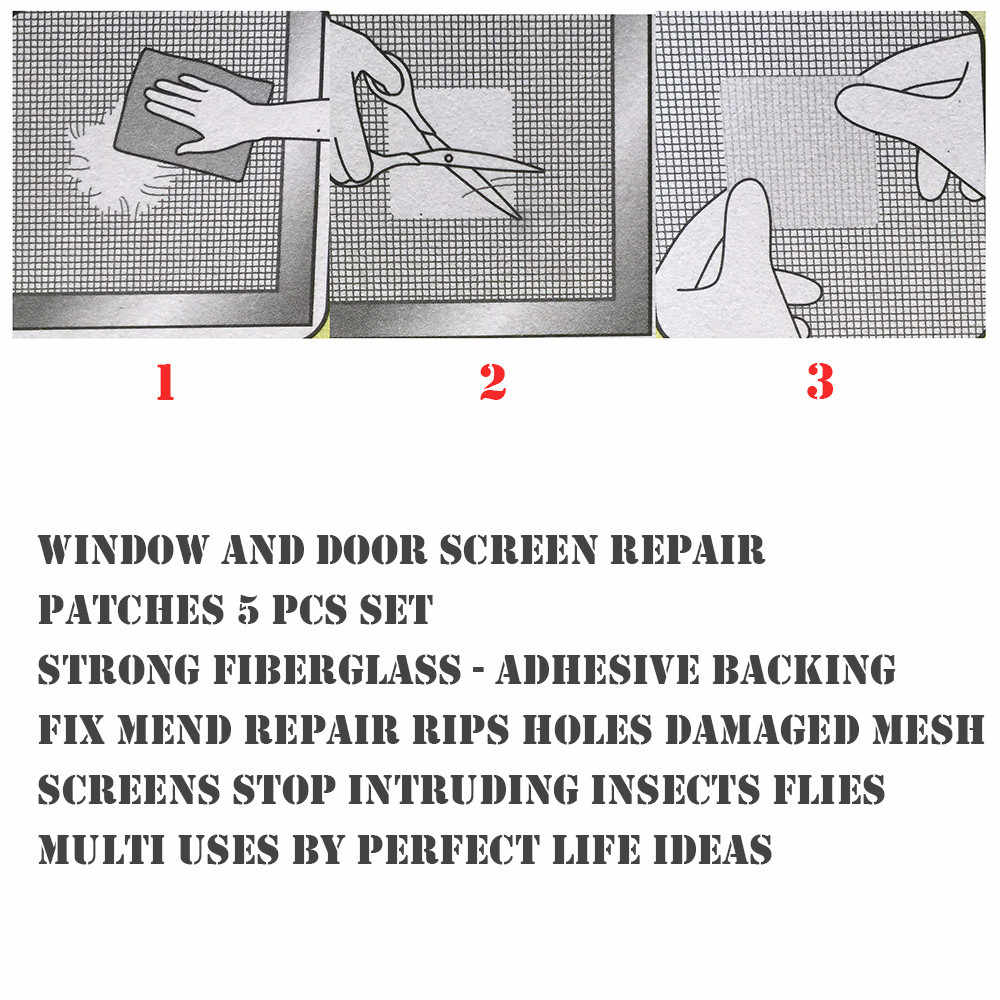 6pcs נייד נגד חרקים טוס דביק מסך תיקון קלטת חלון ודלת טלאי תיקון לתקן לתקן קורע חורים כלים